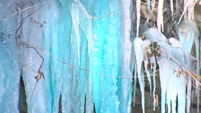 Blue icicles form on Tennessee mountain | WLOS