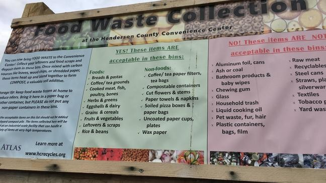 Henderson County recycling program helps prevent food waste
