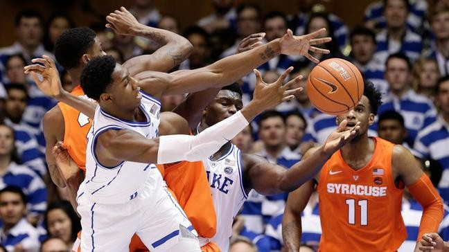 Syracuse Upsets No 1 Duke 95 91 In Ot After Jones Injury Wlos