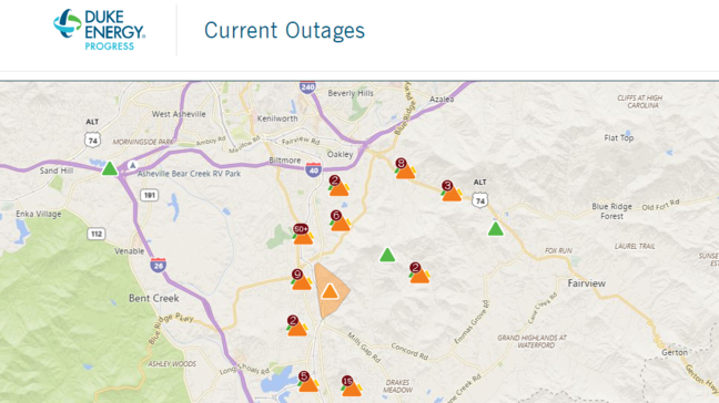 Rutherford Electric Power Outage Map.Thousands Without Electricity In Buncombe County Wlos