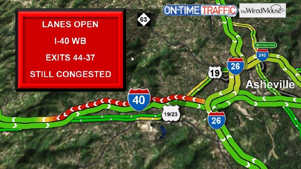 Crash closed I-40 westbound in Candler   WLOS