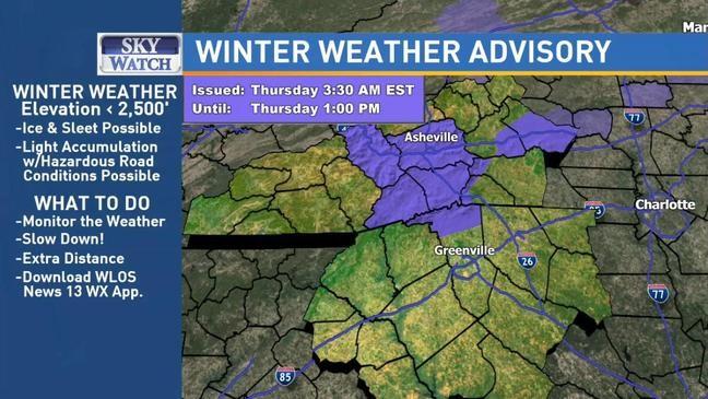 Thursday Weather Update Heavy Rain Across Region Freezing Rain In