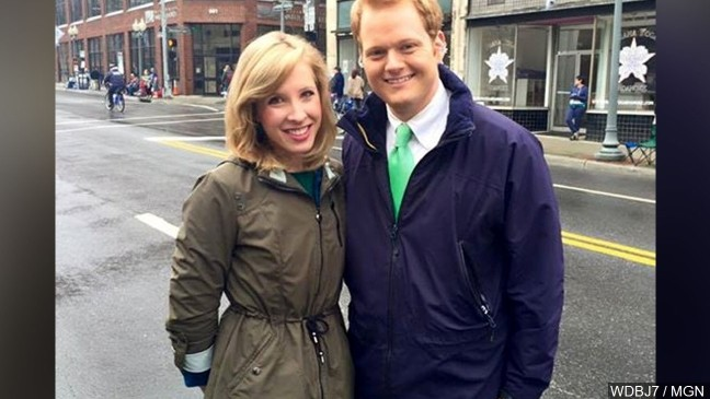 Family, friends visit WNC in tribute to slain WDBJ reporter