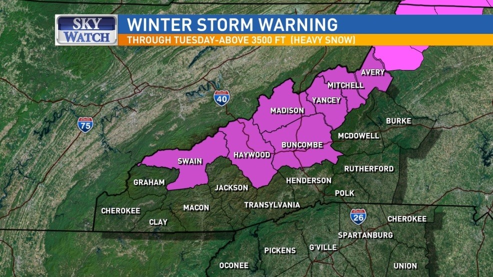 Winter Storm Warning Bring It On Says >> Winter Storm Could Bring Heavy Snow For Some In Wnc Wlos